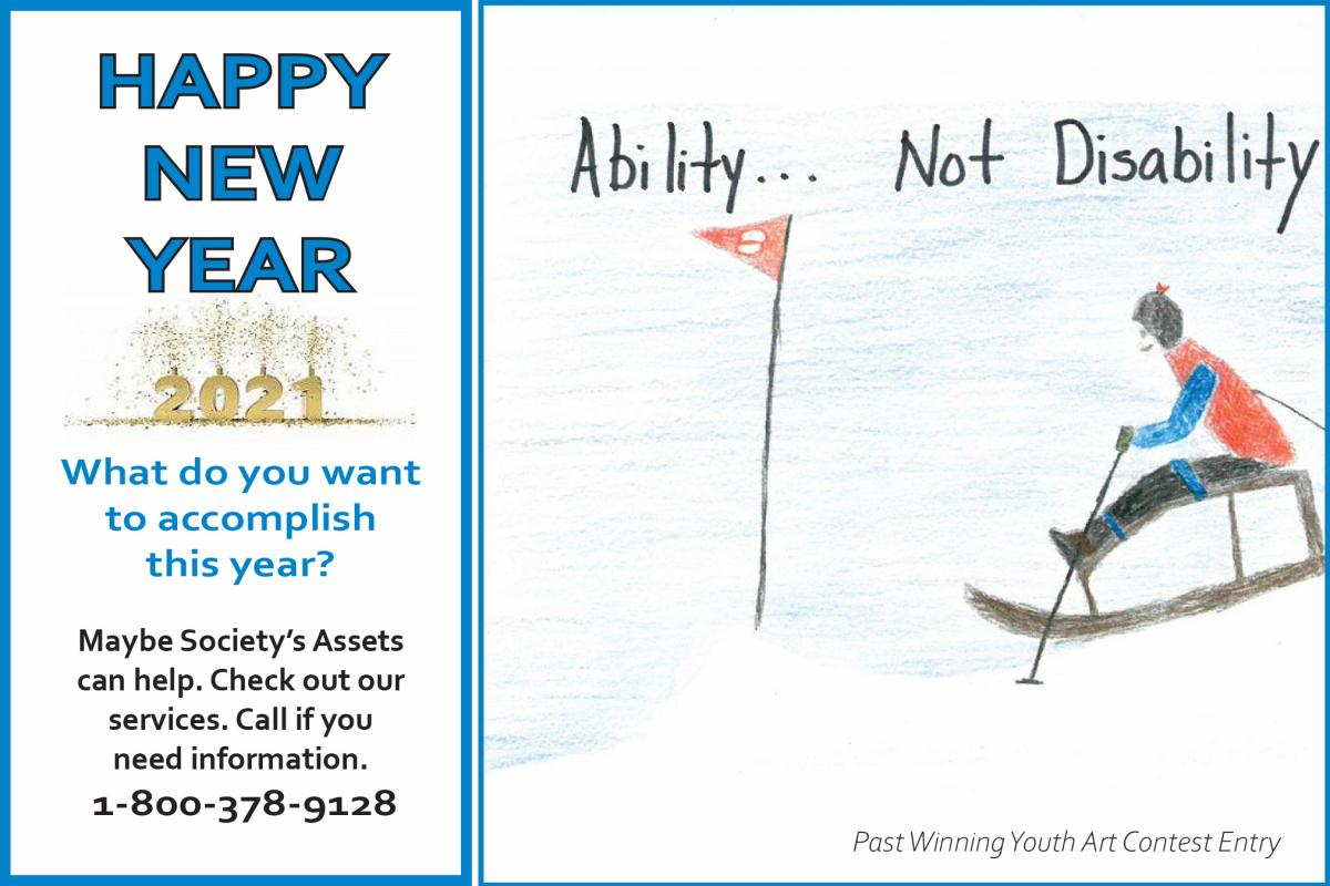 What do you want to accomplish this year? Maybe sit snow skiing? ((Graphic) Check out our services. Call if you need more information. 1-800-378-9128